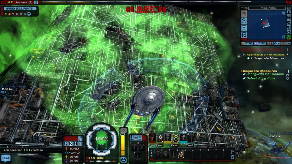 Redoing the First Three Missions of Star Trek Online to Destroy a Borg Cube